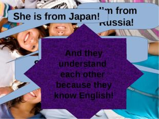 English language is a language of communication with people on the Earth -Здр