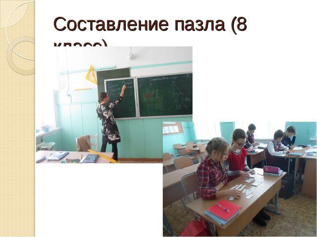 Составление пазла (8 класс)