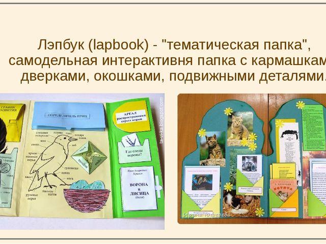 """Лэпбук (lapbook) - """"тематическая папка"""", самодельная интерактивня папка с ка..."""