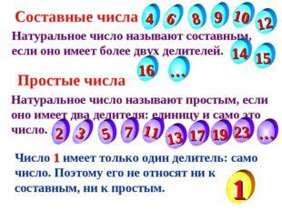 Натуральное число называют составным, если оно имеет более двух делителей. На
