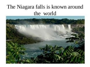 The Niagara falls is known around the world