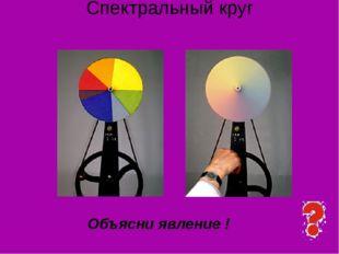 Спектральный круг Объясни явление ! Ответьте на вопрос. Предложение сделать