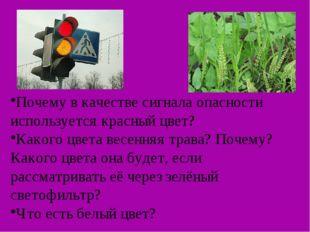 Почему в качестве сигнала опасности используется красный цвет? Какого цвета в