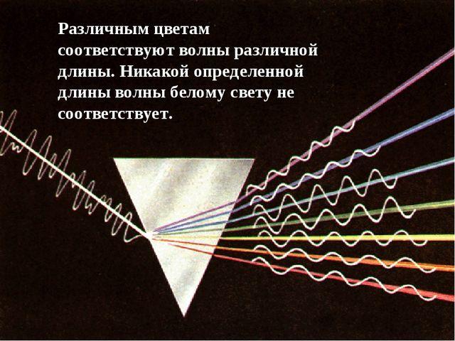 Различным цветам соответствуют волны различной длины. Никакой определенной дл...