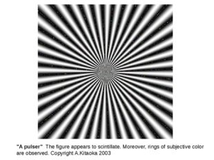 """""""A pulser"""" The figure appears to scintillate. Moreover, rings of subjective c"""