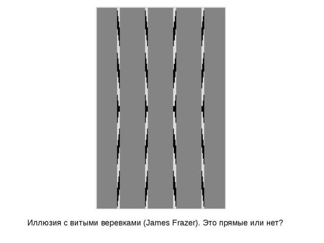 Иллюзия с витыми веревками (James Frazer). Это прямые или нет?