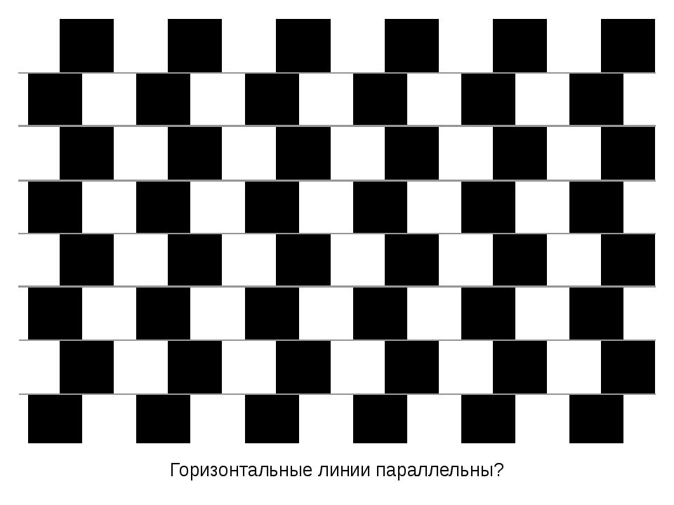 Горизонтальные линии параллельны?