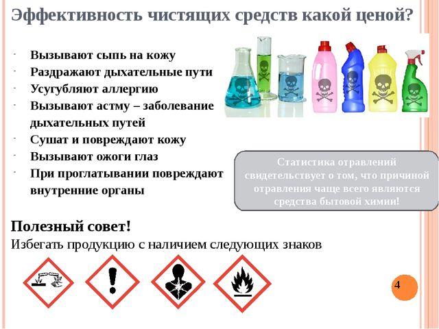Эффективность чистящих средств какой ценой? Полезный совет! Избегать продукци...