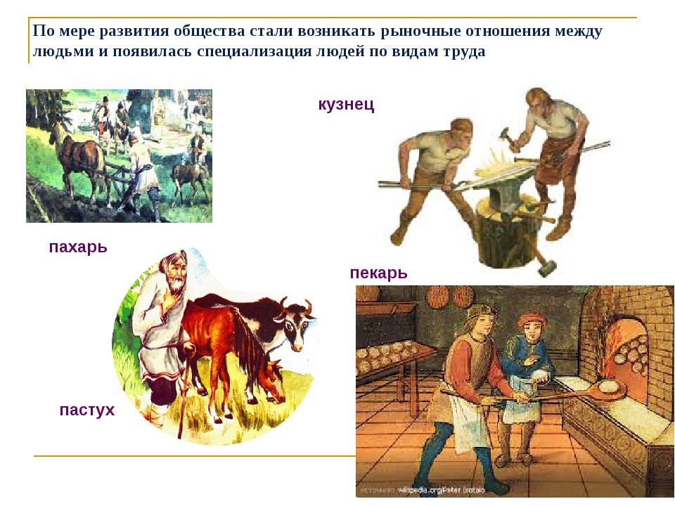 По мере развития общества стали возникать рыночные отношения между людьми и п...