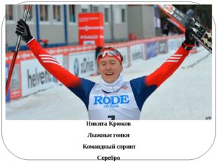 Никита Крюков Лыжные гонки Командный спринт Серебро