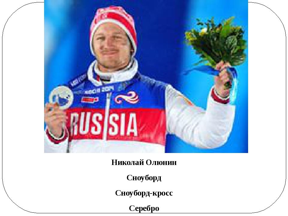Николай Олюнин Сноуборд Сноуборд-кросс Серебро