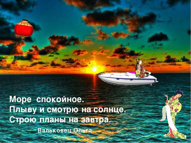 Море спокойное. Плыву и смотрю на солнце. Строю планы на завтра. Вальковец Ол...