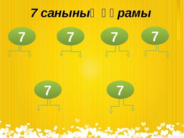7 санының құрамы 7 7 7 7 7 7