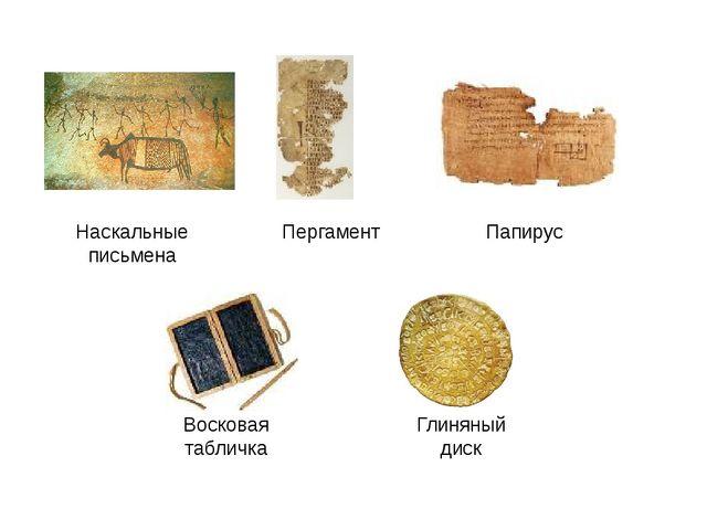 Наскальные письмена Пергамент Папирус Восковая табличка Глиняный диск