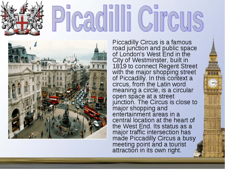 Piccadilly Circus is a famous road junction and public space of London's West...