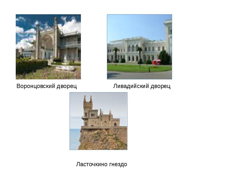 Воронцовский дворец Ливадийский дворец Ласточкино гнездо
