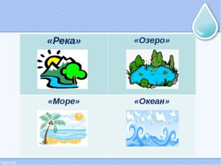 «Река» «Озеро» «Море» «Океан»