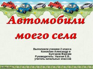 Выполнили ученики 2 класса Коноплин Александр и Булгаков Максим Руководитель:
