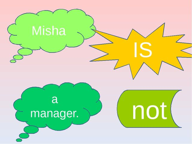 Misha IS a manager. not