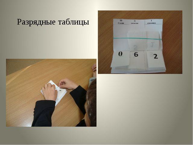 Разрядные таблицы