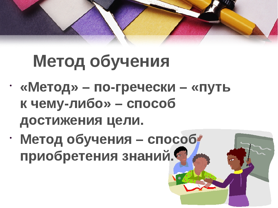 Метод обучения «Метод» – по-гречески – «путь к чему-либо» – способ достижения...