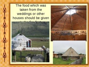 The food which was taken from the weddings or other houses should be given to