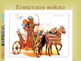 Египетское войско ПЕХОТА КОЛЕСНИЦЫ 