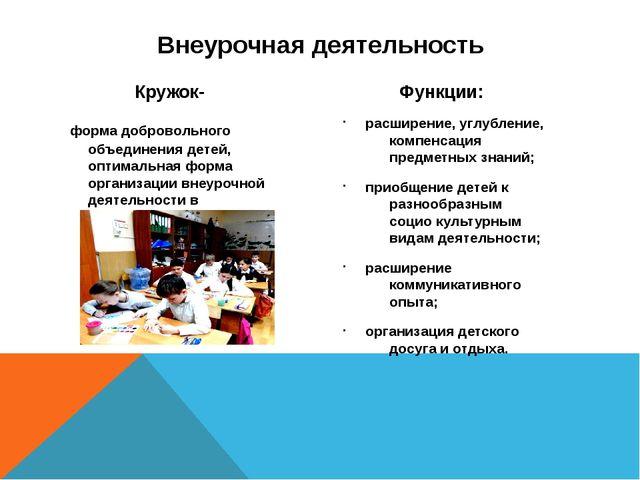 Кружок- форма добровольного объединения детей, оптимальная форма организации...