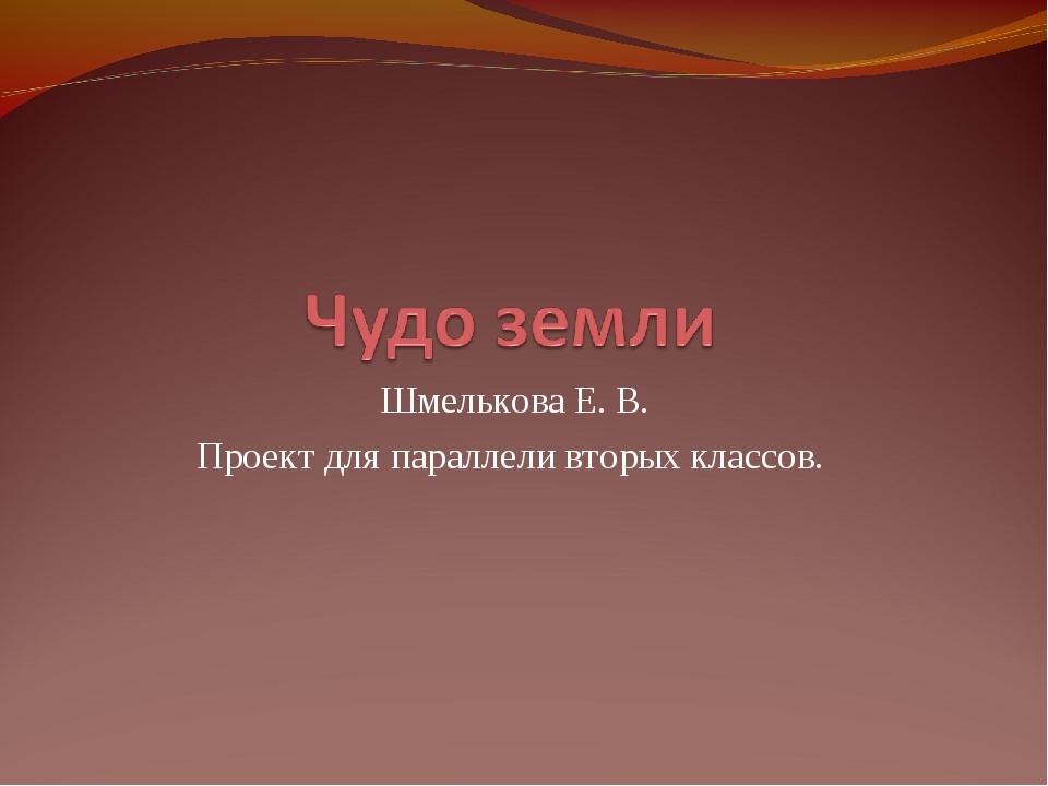 Шмелькова Е. В. Проект для параллели вторых классов.