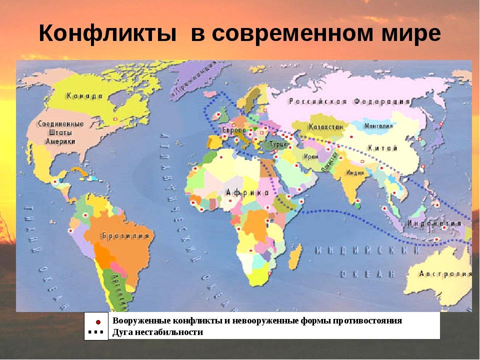 Конфликты в современном мире Вооруженные конфликты и невооруженные формы прот...