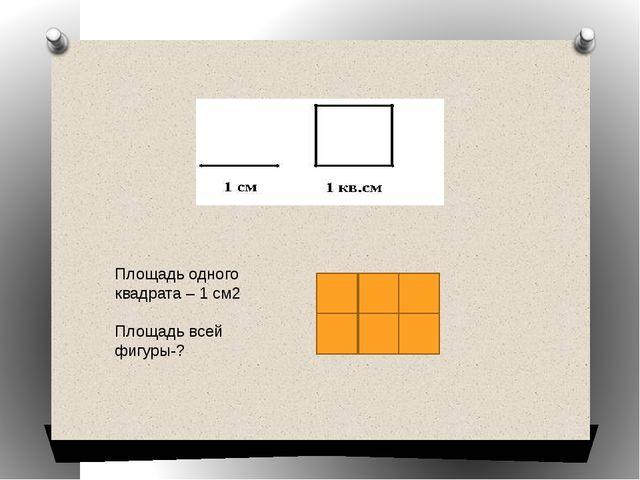 Площадь одного квадрата – 1 см2 Площадь всей фигуры-?