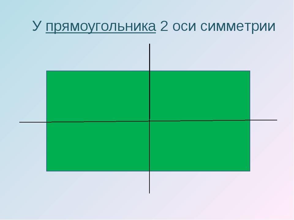 У прямоугольника 2 оси симметрии