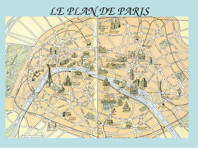 LE PLAN DE PARIS