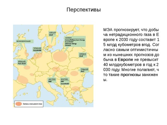 Перспективы МЭАпрогнозирует,чтодобычанетрадиционногогазавЕвропек2030...