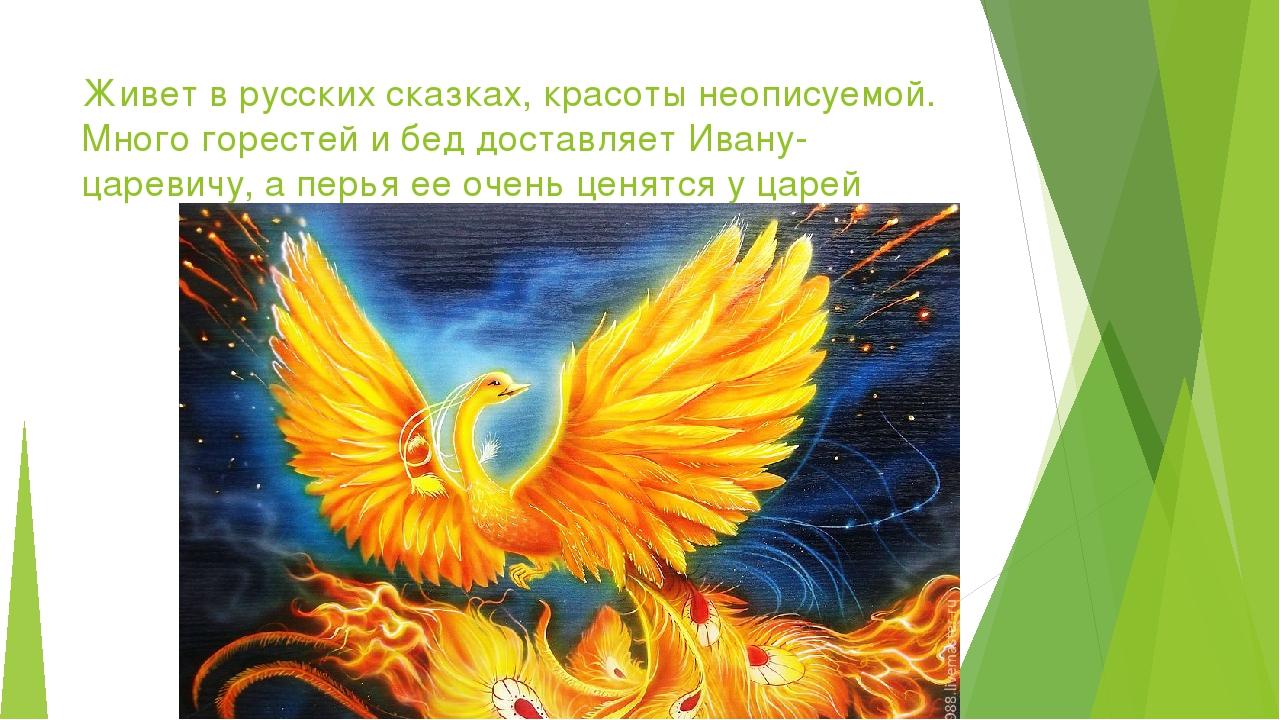 Живет в русских сказках, красоты неописуемой. Много горестей и бед доставляет...