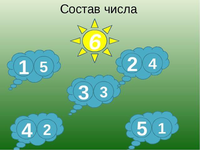 Состав числа 6 3 3 5 1 4 2 2 4 1 5