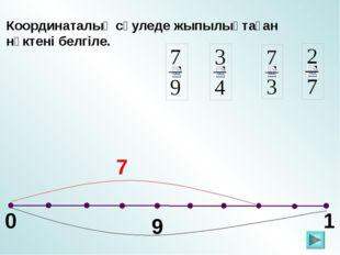 0 1 Координаталық сәуледе жыпылықтаған нүктені белгіле. 7 9