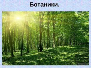 Ботаники.