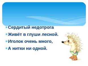 СказкиС.Козлова Вымысел, фантазия Реальность, природные явления «Ёжик в тума