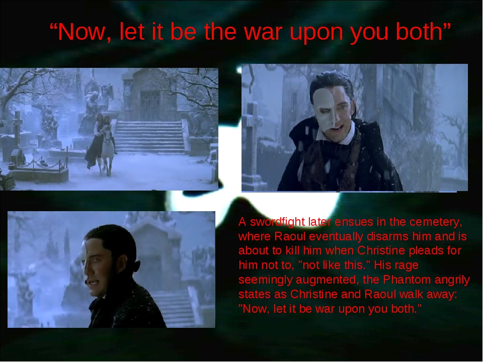 """""""Now, let it be the war upon you both"""" A swordfight later ensues in the cemet..."""