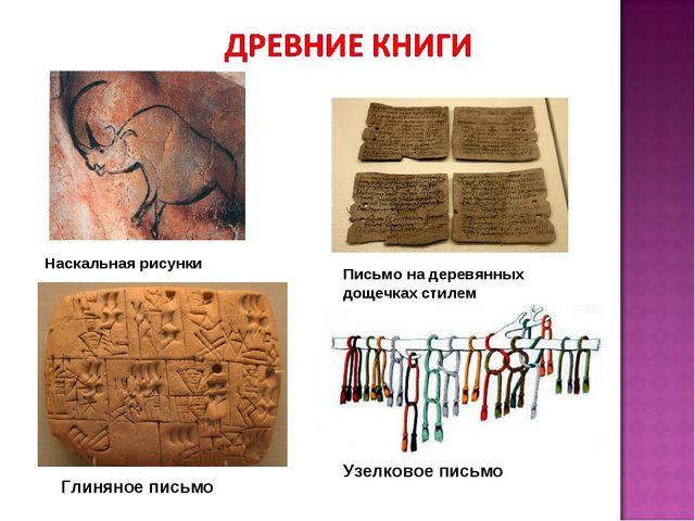 Наскальная рисунки Письмо на деревянных дощечках стилем Глиняное письмо Узелк...