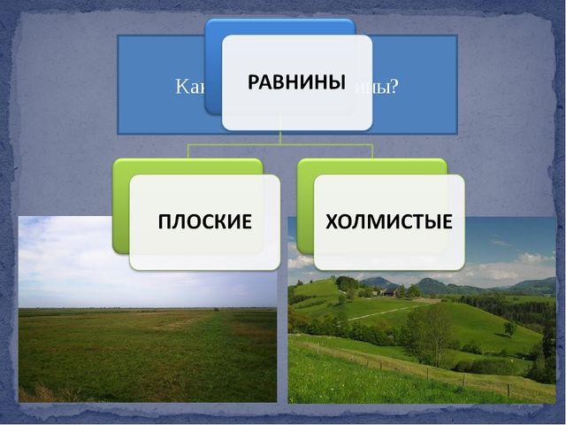 Какие бывают равнины?