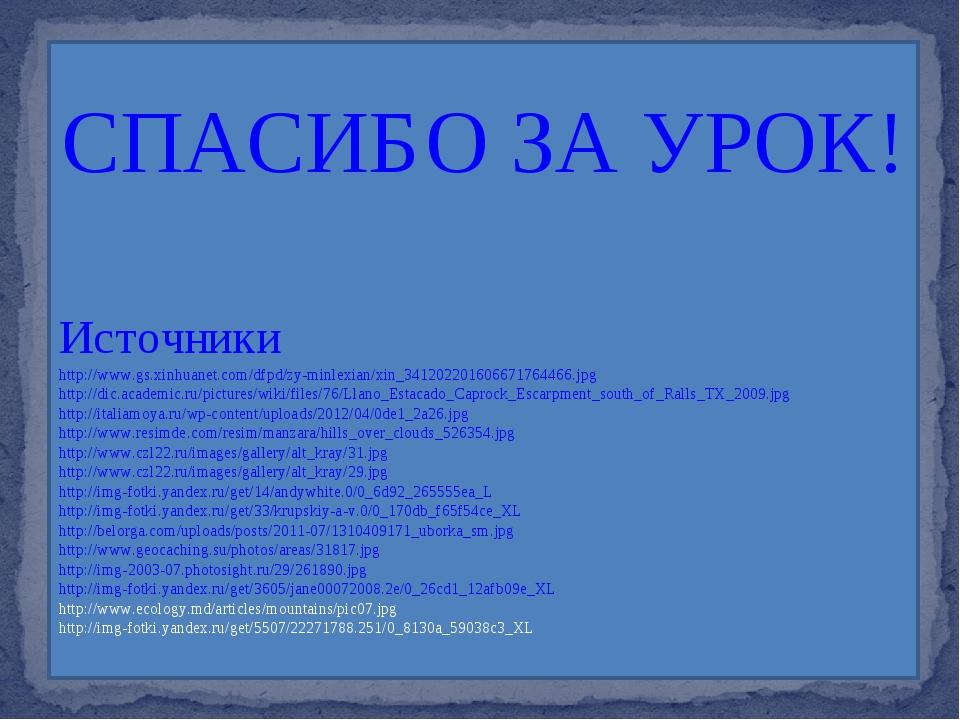 СПАСИБО ЗА УРОК! Источники http://www.gs.xinhuanet.com/dfpd/zy-minlexian/xin_...