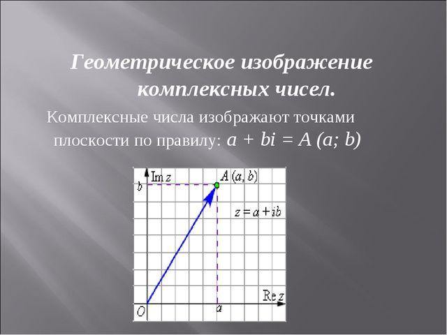 Геометрическое изображение комплексных чисел. Комплексные числа изображают т...
