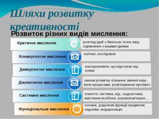 www.themegallery.com Шляхи розвитку креативності Розвиток різних видів мислен