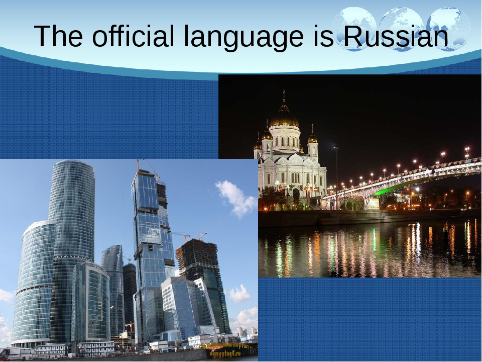 The official language is Russian