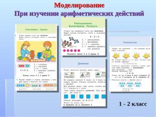 Моделирование При изучении арифметических действий 1 - 2 класс