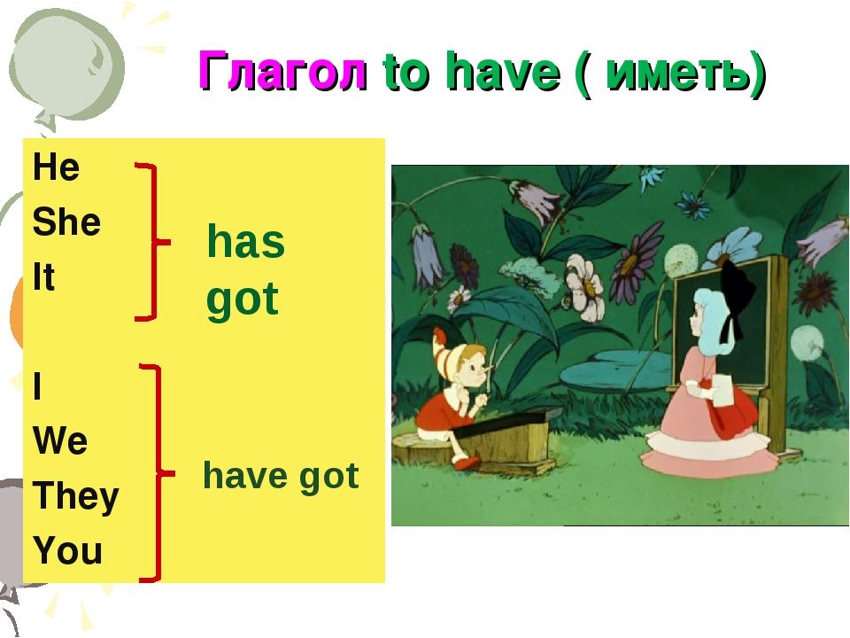 Глагол to have в английском языке (иметь, обладать ...