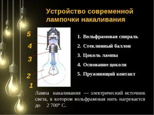 Вольфрамовая спираль Стеклянный баллон Цоколь лампы Основание цоколя Пружинящ
