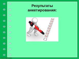 Результаты анкетирования: © Фокина Лидия Петровна